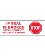 Stop if Seal is Broken Box Sealing Tape